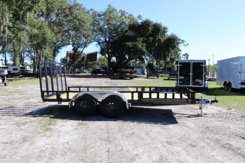 7X16 PJ Trailers 83 in. Tandem Axle Channel I Utility Trailer