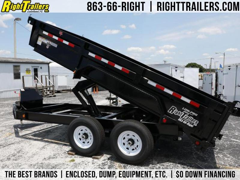 7x14 PJ Trailers | Low Pro 14K GVWR Dump Trailer