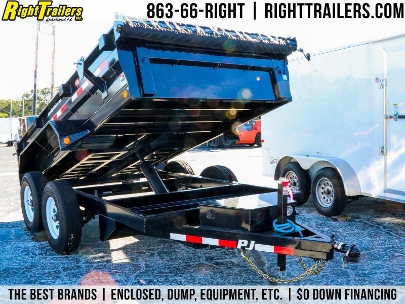 6x12 PJ Trailers   5200 Lb DEXTER Axles Dump Trailer