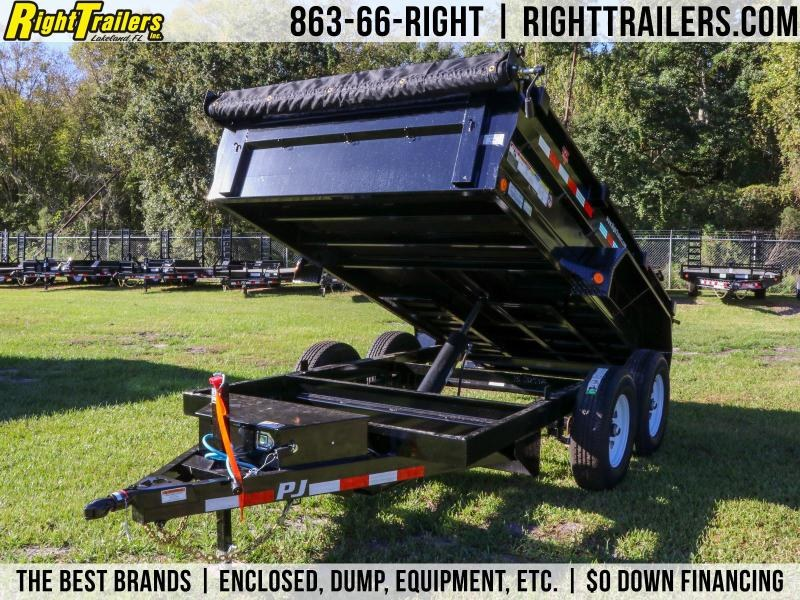 6x12 PJ Trailers | 5200 Lb DEXTER Axles Dump Trailer