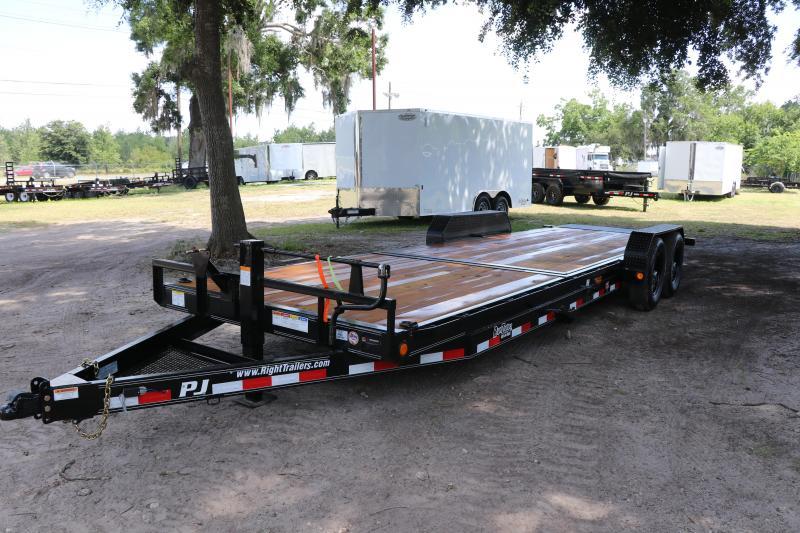 7X24 PJ Trailers 6 in. Channel Equipment Tilt (T6) Equipment Trailer