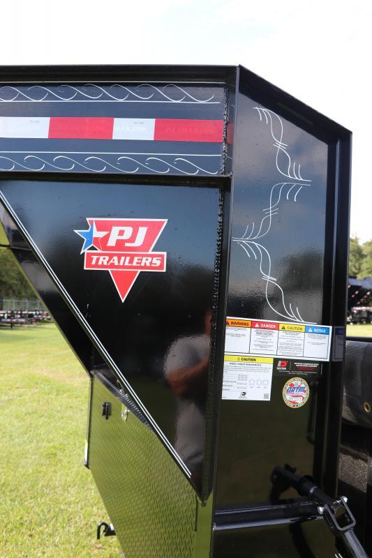 7x16x2 PJ Trailers   Gooseneck Dump Trailer With 10Ga. Steel Bed