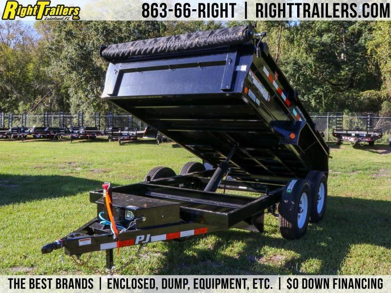 6x12 PJ Trailers | 5200 Lb DEXTER Axles Dump Trailer