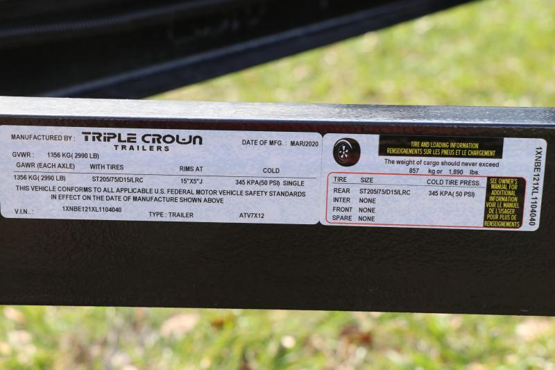 7X12 Triple Crown Trailers | Utility Trailer