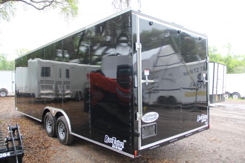 USED-8.5x24 Continental Cargo | Enclosed Car Trailer