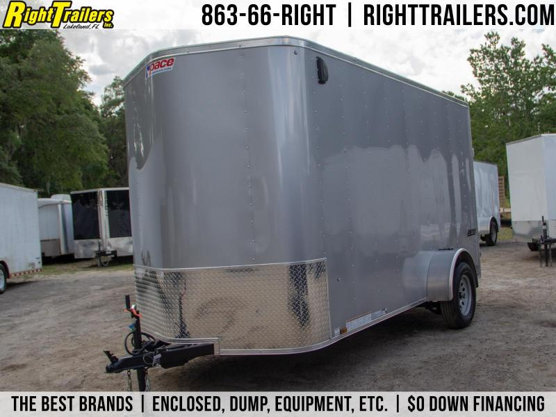 6x12 Pace American   Enclosed Trailer [Silver]