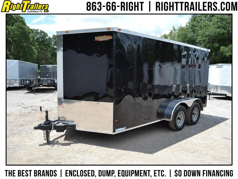 7x14 Red Hot Trailers | Enclosed Trailer [Black]