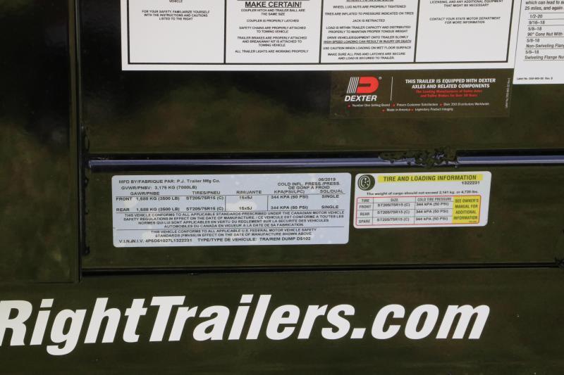5x10 PJ Trailers | 7K Dump Trailer