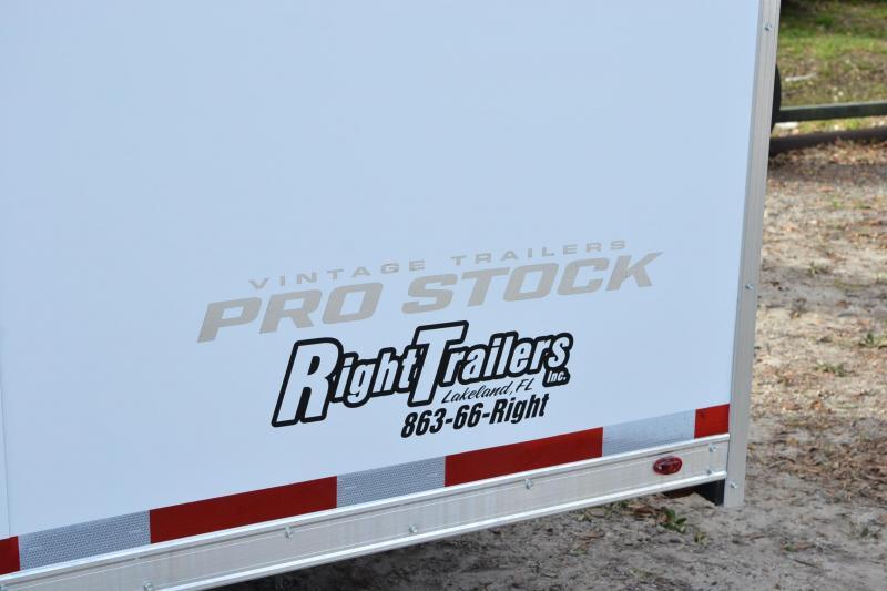 8.5x34 Vintage Pro Stock   Enclosed Race Trailer