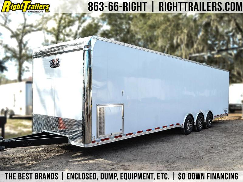 8.5x34 Vintage Pro Stock | Enclosed Race Trailer