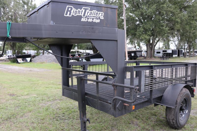 6x10 Home Built | Gooseneck Utility Trailer