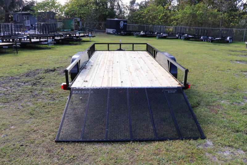 7x16 Red Hot Trailers   Utility Trailer