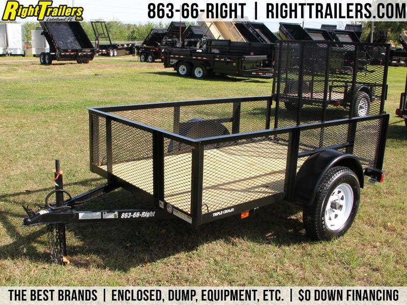 5x10 Red Hot Trailers | Utility Trailer [High-Sides]