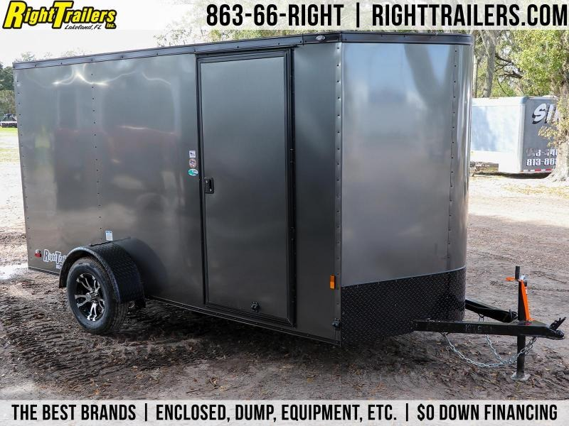6X12 Continental Cargo | Enclosed Trailer  W/ BLACKED-OUT PACKAGE }