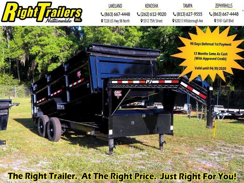 7X16X4 PJ Trailers I Dump Trailer