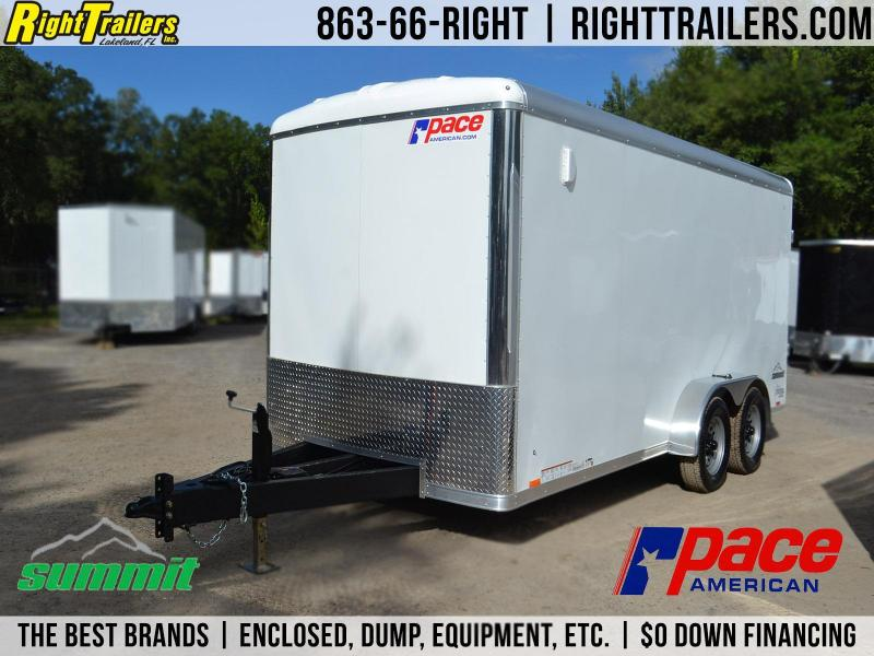 7x16 Pace American Summit | Landscape Trailer [Enclosed]