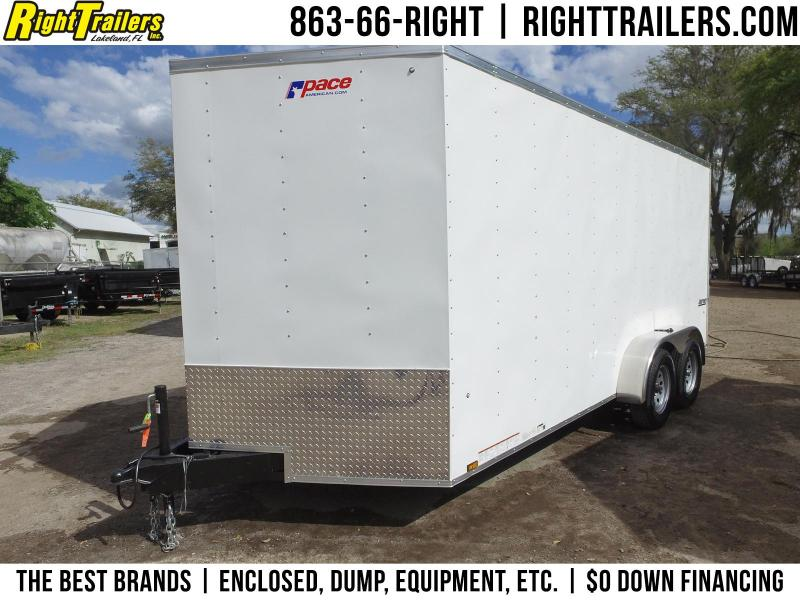 7x16 Pace American   Enclosed Cargo Trailer