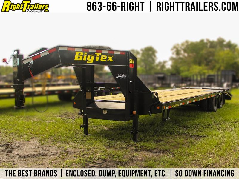 8.5x30 Big Tex Trailers | Equipment Trailer [22GN+Mega Ramps]