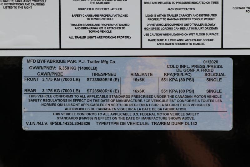 7X14 PJ Dump Trailer
