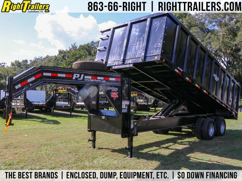 8x20x4 PJ Trailers | Gooseneck Deck Over Dump Trailer