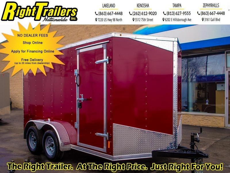 7X12 RC Trailers Enclosed Cargo Trailer