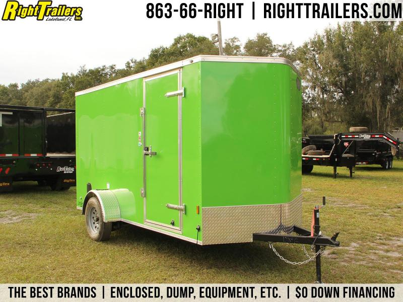 6x12 Continental Cargo | Enclosed Trailer (Arctic Green)