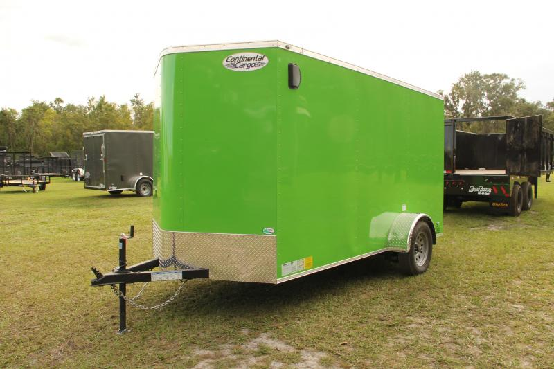 6x12 Continental Cargo | Enclosed Trailer [Lime Green]