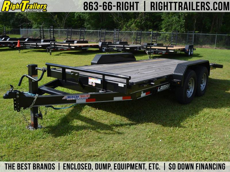 7x16 Lamar Trailers | Open Car Hauler Tilt Trailer