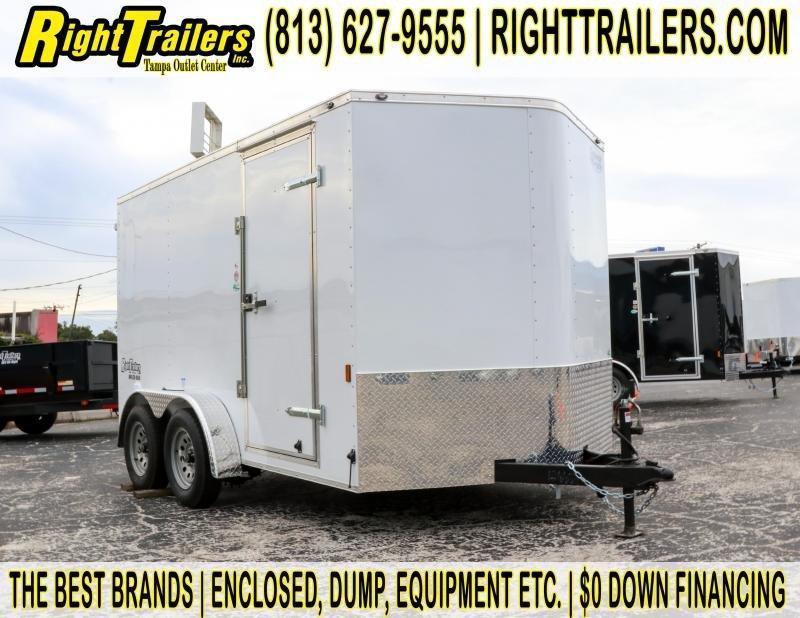 7x12 Continental Cargo   Enclosed Trailer