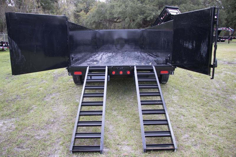 7x16x3 PJ Trailers   DE Dump Trailer ( 7 Ga. Steel Deck )
