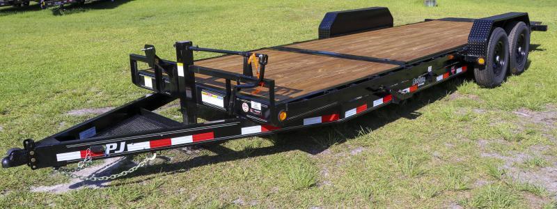 7X22 PJ Trailers 6 in. Channel Equipment Tilt (T6) Equipment Trailer