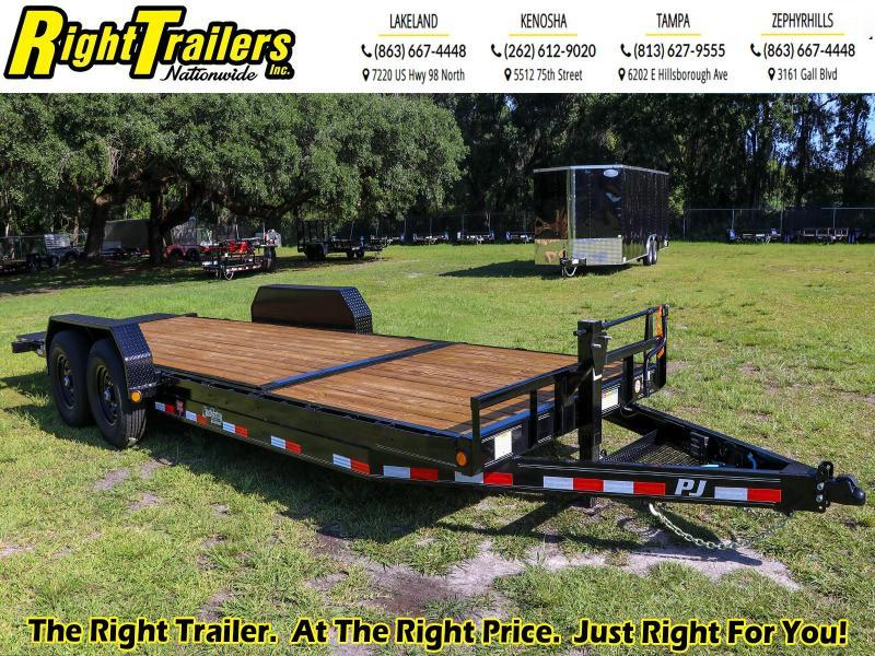7X22 PJ Trailers 6 in. Channel Equipment Tilt (T6) Equipment Trailer