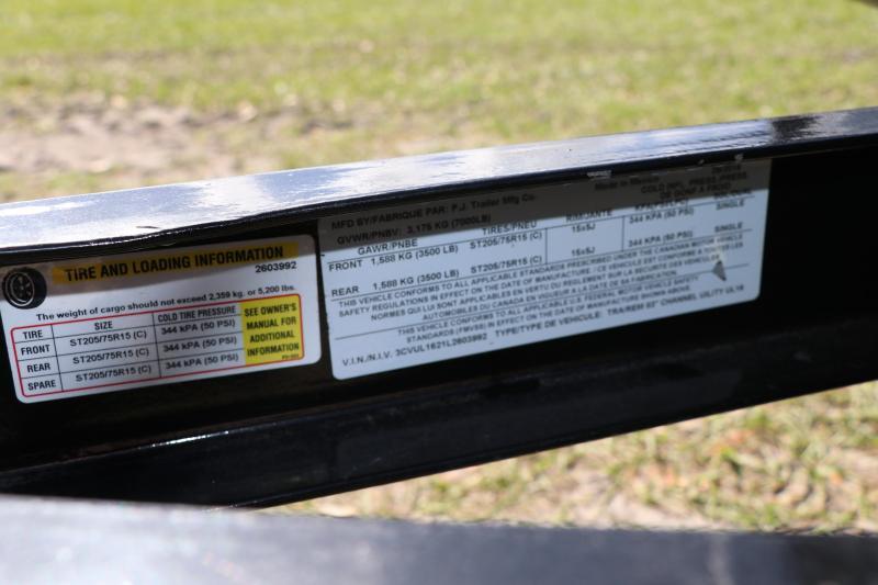 7x16 PJ Trailers   Utility Trailer