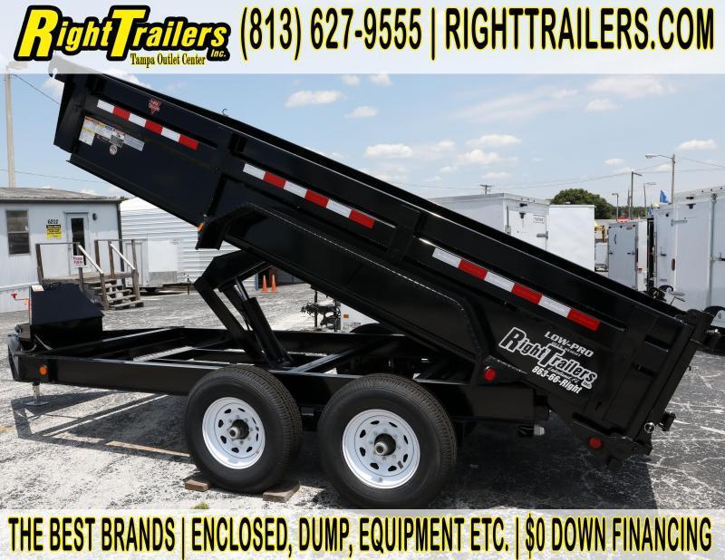 7x14 PJ Trailers | Low Pro 14K GVWR Dump Trailer