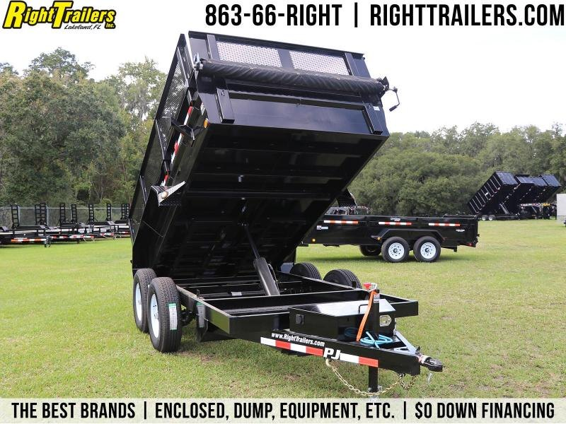 6X12 PJ Trailers I Dump Trailer With Top Wind Drop Leg Jack