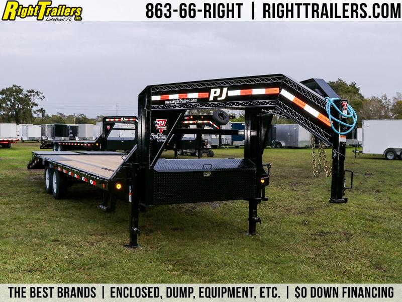 7X20 PJ Trailers Low-Pro Flatdeck with Singles I Flatbed Trailer