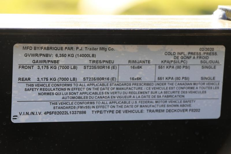 8.5x20 PJ Trailers DECKOVER Equipment Trailer