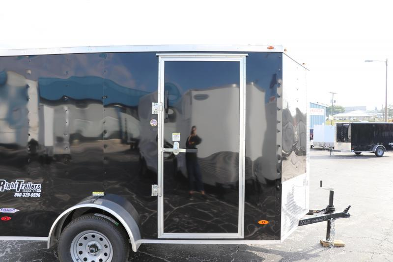 6x10 Red Hot   Enclosed Trailer