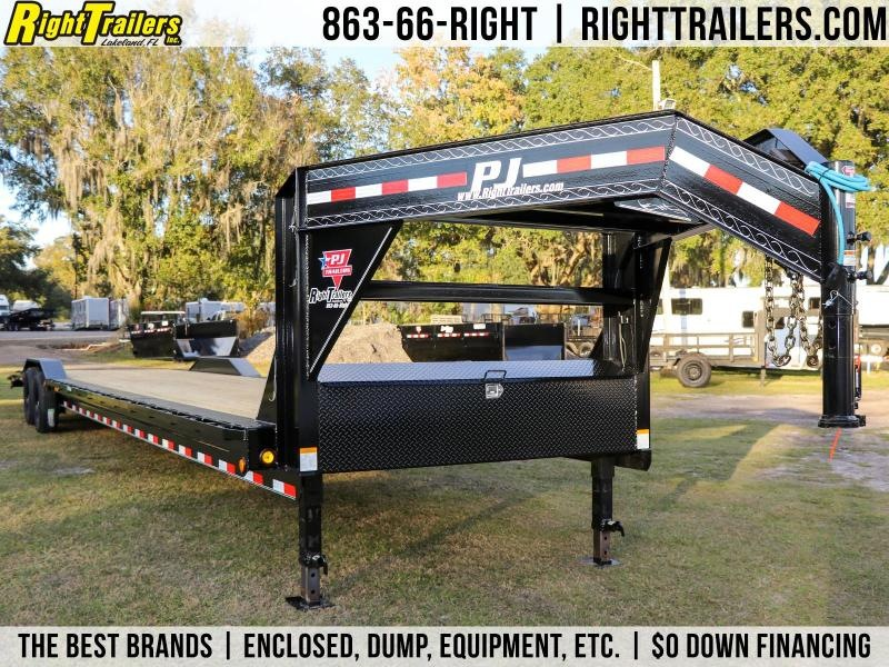 8.5x40 PJ Trailers   Gooseneck Carhauler / Equipment Trailer