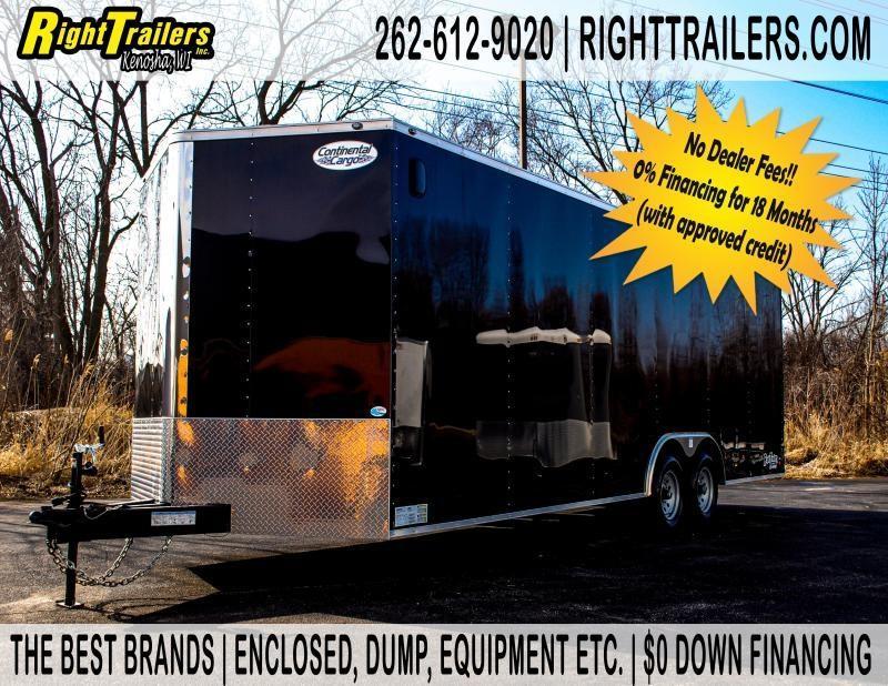 8.5X24 Continental Cargo TRA Enclosed Cargo Trailer