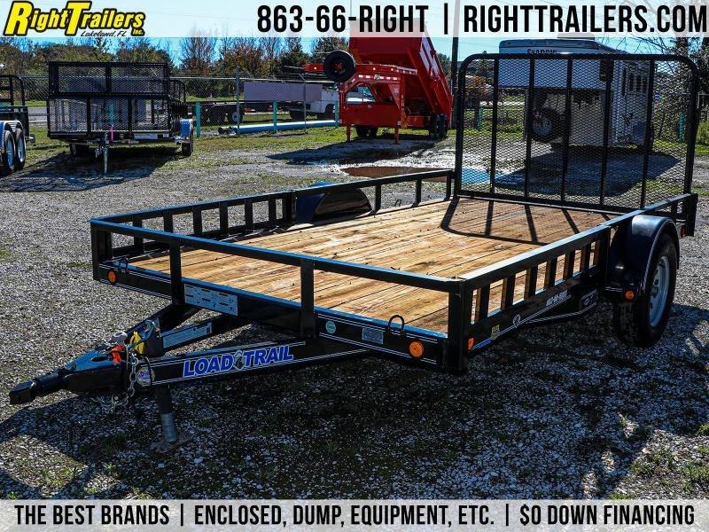 (USED) 7x12 Load Trail I Single Axle Landscape Utility Trailer