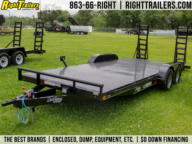 7x20 Lamar Trailers | Open Car Hauler [Steel Deck]