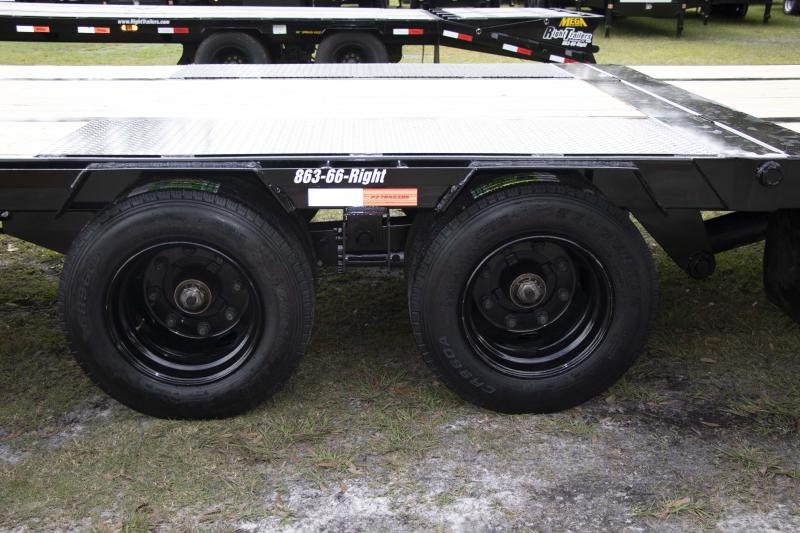 8.5X44 PJ Trailers Low-Pro with Hydraulic Dove (LY) I  Flatbed Trailer