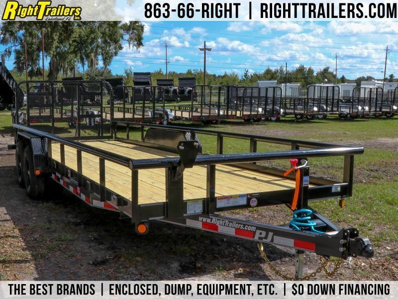 7x22 PJ Trailers Angle Pipetop | Utility Trailer