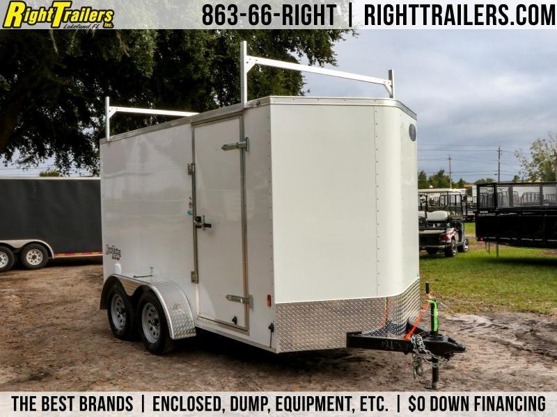 6x12 Continental Cargo   Enclosed Cargo Trailer