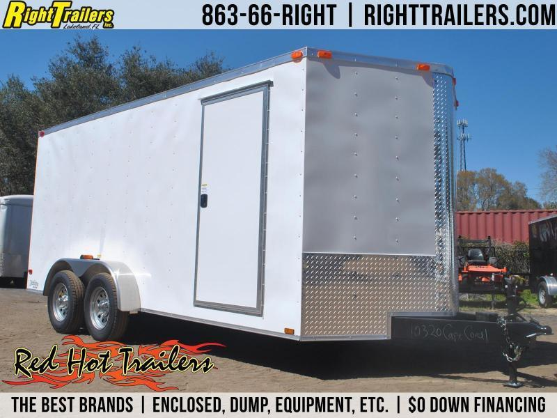 7x14 Red Hot Trailers | Enclosed Trailer [Barn Doors]