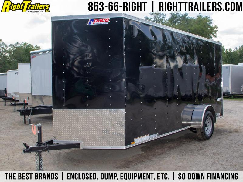 6x14 Pace American   Enclosed Trailer [Black]
