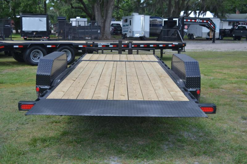 7x22 PJ Trailers | Open Car Hauler Trailer