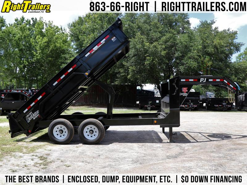 7x14 PJ Trailers | Gooseneck Equipment Trailer
