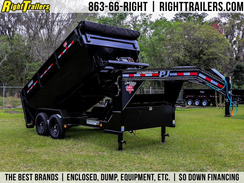 7x14x4 PJ Trailers | Roll Off Dump Trailer [Gooseneck]